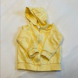 H&M soft yellow hoodie 12-18mo